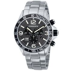 8b9a25c738f Torgoen Swiss Men s Quartz Watch with Grey Dial Chronograph Display and  Silver Stainless Steel Bracelet T35202