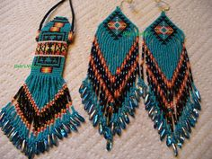 Native American Inspired Amulet bag and earring set by DebsVisions