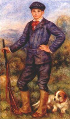 Jean Renoir as a Hunter - Pierre-Auguste Renoir
