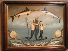 Ralph Cahoon mermaids painting  by N.E.Antique Shows, via Flickr