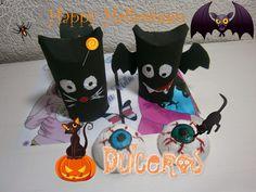 Divertidos dulceros para Halloween reciclando