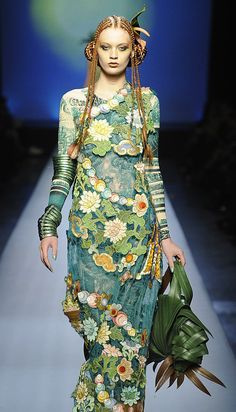 Beautiful color combination~Jean Paul Gaultier Spring/Summer 2010 Couture