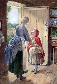 Little Red Riding Hood blog post at The Woodcutter's Daughter, illustration by Robert Bruce Wallace