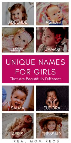 Unique Girl Names That Are Beautiful and D. Unique Girl Names That Are Beautiful and Different! Are you looking for the perf… Unique Girl Names That Are Beautif Rare Baby Names, Unisex Baby Names, Unusual Baby Names, Cool Baby Names, Baby Names And Meanings, Cool Baby Stuff, Cute Little Girl Names, Rare Female Names, Interesting Baby Names
