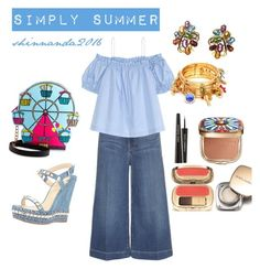 """""""SIMPLY SUMMER"""" by shinnanda on Polyvore featuring Frame Denim, H&M, Betsey Johnson, Christian Louboutin and Dolce&Gabbana"""