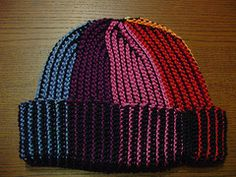 0c31961800c Black - Rainbow Reversible Hat - with pattern! - CROCHET