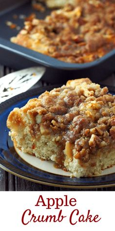 Soft delicate cake Soft delicate cake and crunchy buttery top this Apple Crumb Cake is an ultimately delicious dessert filled with tender-crisp apples flavored with a touch of cinnamon. Apple Crumb Cakes, Apple Coffee Cakes, Köstliche Desserts, Delicious Desserts, Yummy Food, Apple Desserts, Apple Cake Recipes, Baking Recipes, Loaf Recipes