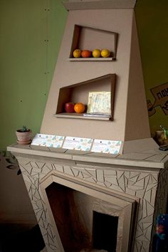 Fireplace Cardboard Furniture Collection Design Images