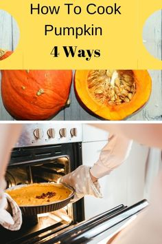 Find out different ways to cook pumpkin. You can bake it in the oven, or how about roasting it. Steaming and microwaving are other great ways to cook pumpkin!