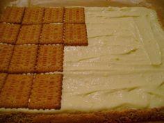 Prăjitură cu nucă și ness Biscuits, Dairy, Sweets, Bread, Cheese, Simple, Cake, Desserts, Recipes