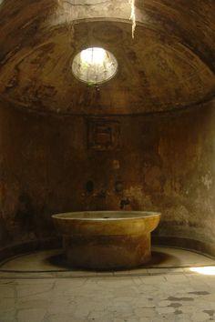 The Baths in Pompeii Ruins Naples Campania