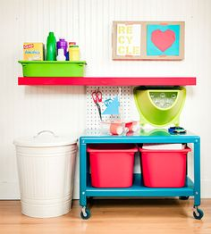 LOVE the headboard idea with EXPEDIT - 5 Kid-Friendly IKEA Hacks