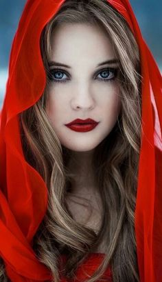 I like this Makeup for Red Riding Hood - seemingly innocent but still quite creepy