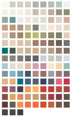 Flamant interior color pallette