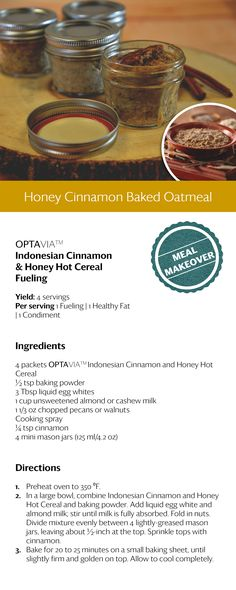 Honey Cinnamon Baked Oatmeal