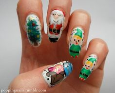 poppingnails:  My final Christmas nails! Check out my blog to...