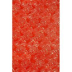 Batik Mums on Red Fine Paper