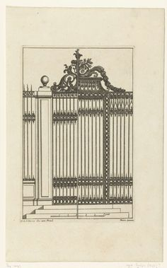 Titelblad: smeedwerk, Anonymous, Reinier Ottens (I), Reinier Ottens (II), 1726 - 1750