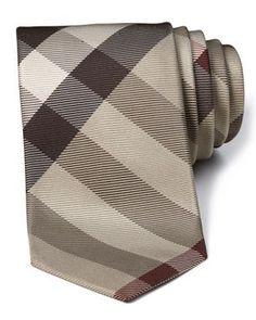 Burberry London Beat Check Skinny Tie