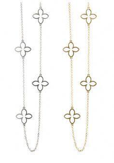 Wallflower chain necklace