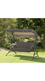 Ferndown 3 Seater Brown Garden Swing Seat
