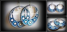 • Sweet Handmade •: Circles of Colors - Quilling Earrings