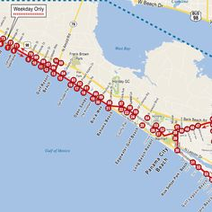 Destin, Florida Map. Thank goodness for this when house/condo ...