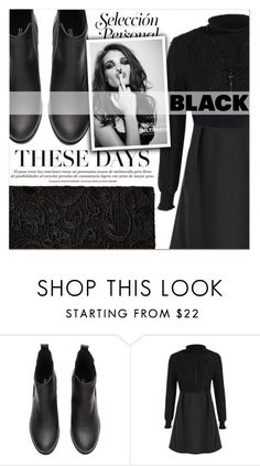 """Black Look"" by lucky-1990 ❤ liked on Polyvore featuring Whiteley"