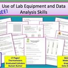 Search words: lab, science lab, lab equipment, thermometer, graduated cylinder, Bunsen burner, balance, meter stick, graphing, line graph, bar grap...