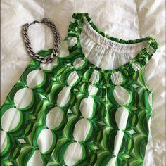 Sale! Hp! Zara Green Mod Pattern Dress
