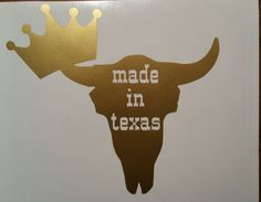 Made in Texas Decal/Texas Decal/Texas Y'all/Crown Decal by BluLoveCreations on…