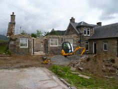 Demolition begins at #Glenshee Schoolhouse renovation - http://www.agb-developments.co.uk/contract_renovations_glenshee-school-house.html