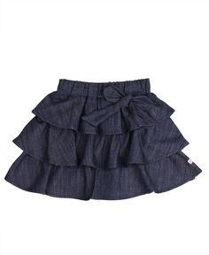 Amazon.com: RuffleButts Toddler Girl Ruffled Denim Bow Skirt: Infant And Toddler Bloomers: Clothing