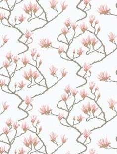 Magnolia Blue  is taken from Cole and Son's Contemporary Collection wallpaper collection.