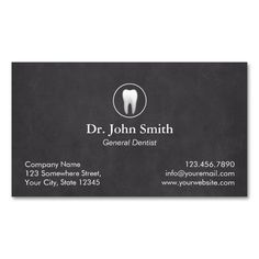 Plain Chalkboard Dental Appointment Business Cards. This is a fully customizable business card and available on several paper types for your needs. You can upload your own image or use the image as is. Just click this template to get started!