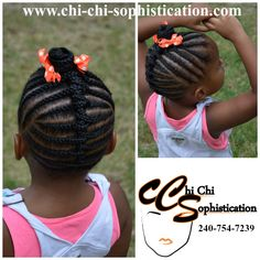 Cornrows for Kids by Chi Chi Sophistication Natural Hair Studio - for KD