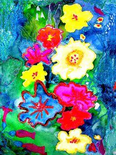 Flowers.mixed media.