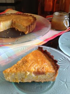 ... -Orange Frangipane Tart, Paleo Tart Crust & Rhubarb-Orange Compote