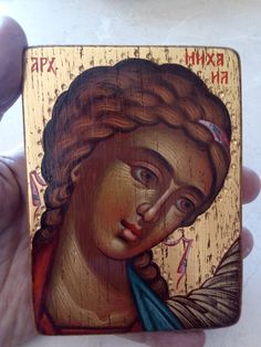 Archangel Michael, Unique Birthday Gifts, Traditional Paintings, Orthodox Icons, Paint Shop, Christian Gifts, Old Wood, Special Gifts, Wedding Gifts