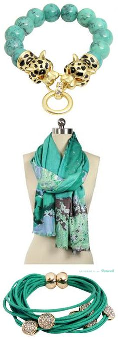 Beautiful Accessories in Teal!  As an ovarian cancer survivor, I especially like anything teal.