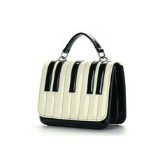 Elegant Piano Look Women's PU Shoulder Bags Black&White