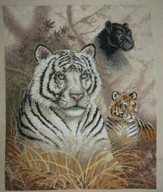 Tiger cross stitch