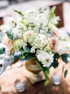 Ivory and Green Wedding Flowers | photography by http://www.defiorephotography.com/