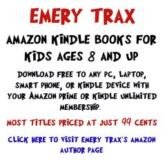 Middle School books for kids ages 8 and up, by Emery Trax. http://emerytrax.com/