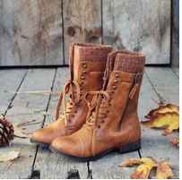 sweater combat boots