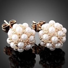 pearl earrings with a modern twist