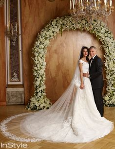 George Clooney and Amal Alamuddin's Wedding Photos - Amal Alamuddin and George Clooney at the Alter on Their Wedding Day from #InStyle