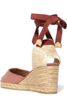 Castañer - Carina Canvas Wedge Espadrilles - Antique rose - IT36