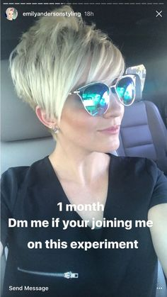 * This Pin was discovered by Jenny Seiler. Discover (and save!) your own Pins on P. - haarschnitte Awesome Awesome This Pin was disco. Cute Hairstyles For Short Hair, Pixie Hairstyles, Pixie Haircut, Short Hair Cuts, Short Hair Styles, Grey Hair Dye, Grey Wig, Haircut And Color, Silky Hair