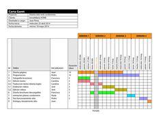 Modelo Carta Gantt para la gestión de proyectos